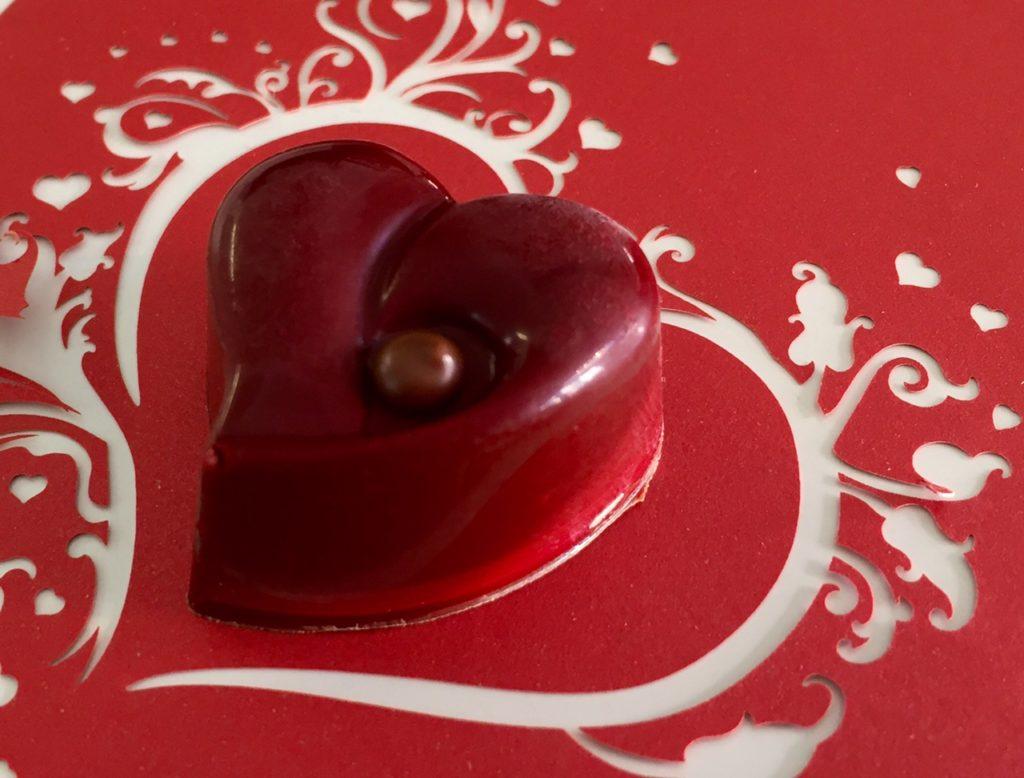 Praliné coeur rouge