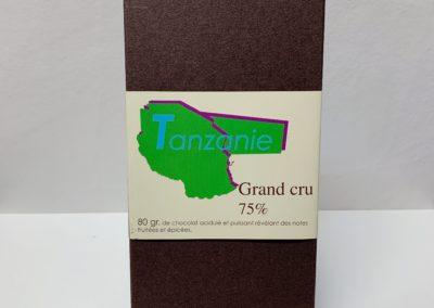 Plaque Grand cru Tanzanie 75%, 80g