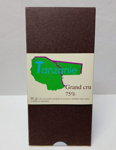 Plaque Grand cru Tanzanie 75%, 80g