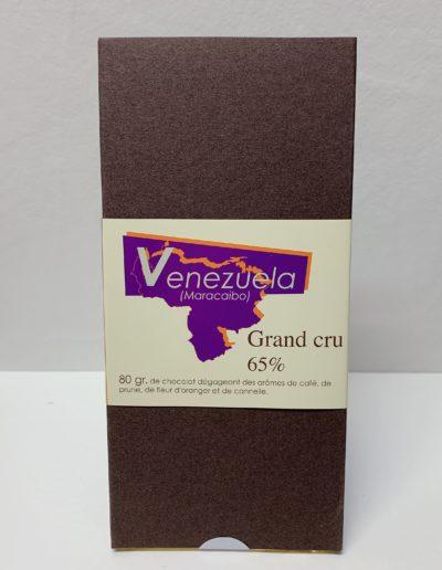 Plaque Grand cru Venezuela (Maracaibo) 65%, 80g