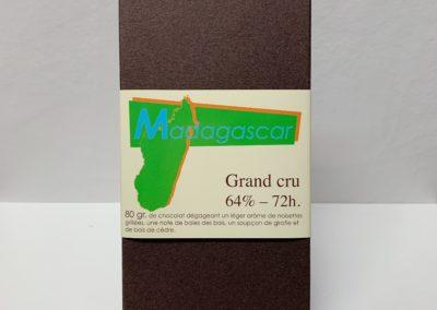 Plaque Grand cru Madagascar 64%-72h, 80g