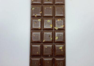 Plaque chocolat noir pistaches caramélisées