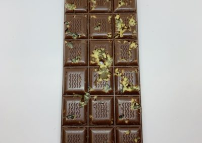 Plaque chocolat noir 52% gingembre caramel 100g