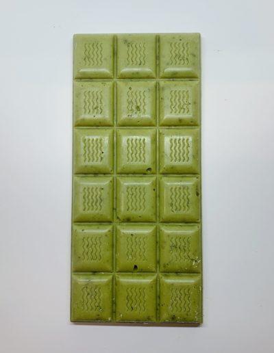 Plaque chocolat blanc au thé vert match et citron 100g
