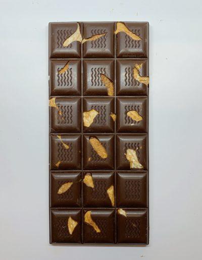 Plaque chocolat noir 52% aux amandes 100g