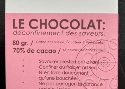Plaque de chocolat «Il faut agir aussi vite que possible …» 80g
