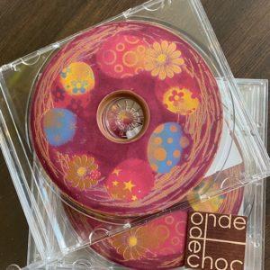 Plaque de chocolat «CD» en chocolat au lait 60g