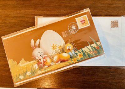 Plaque de chocolat «carte postale» en chocolat au lait 100g